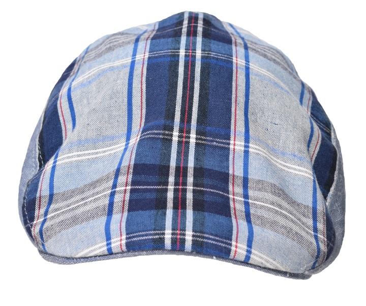 Das karierte Muster aus verschiedenen Blautönen, weiß und rot lässt sich wunderbar in jedes Freizeit-Outfit kombinieren. Durch die jeansblauen Elemente an den Seiten kommt auch noch eine gewisse Patchwork-Optik durch. Die Schnabelform der Mütze macht sie zu einem guten Begleiter nicht nur in der Freizeit sondern macht sich auch gut zu einem blauen Sakko. Das köperbindige Futter ist zu 100% aus Baumwolle und das elastische Schweißband sorgt für einen angenehmen Sitz, was bei 100% Leinen des Hauptstoffes und seiner Leichtigkeit optimaler kaum geht. Die Mütze besticht darüber hinaus durch ihre erstklassige Verarbeitung.