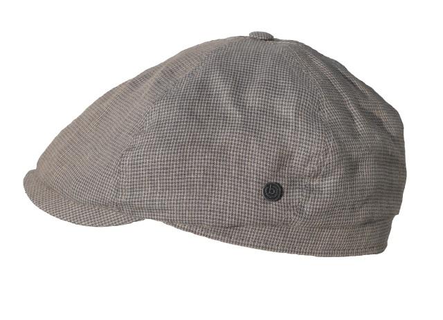Schiebermütze-Bugatti-Flatcap-grau-klein-kariert-mehrteilig-Hauptbild