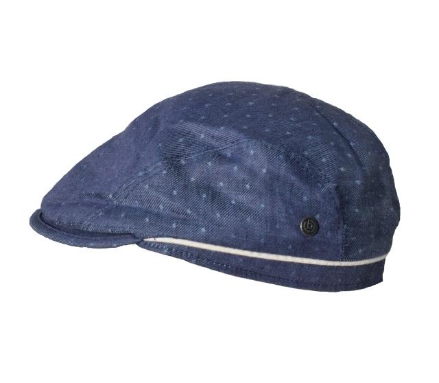Schiebermütze-bugatti-flatcap-sportmütze-tupfen-blau-hauptbild