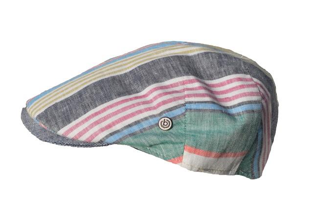 Schiebermütze-Bugatti-Flatcap-streifen-Hauptbild